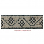 "Fletcher, Honed Mosaic Tile Listello 4"" x 12"""
